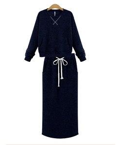 Image 4 - Комплект из худи с юбки Echoine женский с карманами и кружевами