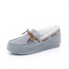 Fashion 2016 Brand U Shoes Woman Fur Women Loafers Slip On Women Flats Casual Warm Ladies Shoes