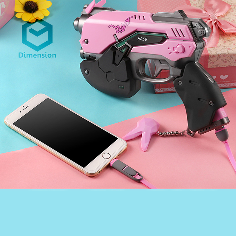 D.va Gun Headphone For Cosplay Weapon Hana Song D Va Prop Pistol Headset Accessories For Halloween Christmas Gift Dva Costume Props