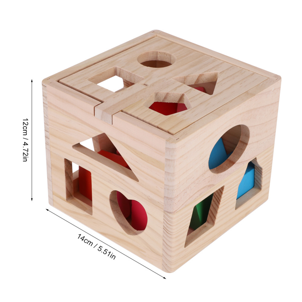 Early Education For Children Wooden Geometric Shape Seventeen Holes Paired Trailer Building Blocks Toys Color Cognitive Toys Spare No Cost At Any Cost Toys & Hobbies