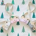KAMIMI Câmera de brinquedo Encantador do bebê Modelo 100% Fazendo A Mão De Madeira retro câmera de Borracha Selo Selo Cinza & Brown DIY crianças brinquedo I055