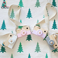 KAMIMI baby Camera toy Lovely Model 100% Hand Making Wooden retro Camera Rubber Stamp Seal Gray & Brown DIY children toy I055
