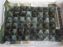 30pcs beautiful Natural labradorite QUARTZ CRYSTAL pyramid Moonstone Pyramid HEALING 28mm-35mm Wholesale