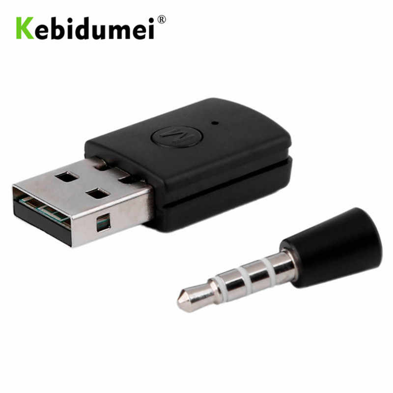 Adaptador de dongle usb kebidumei bluetooth para ps4 3,5mm, adaptador USB 4,0 + EDR para PS4, auricular Bluetooth de rendimiento estable