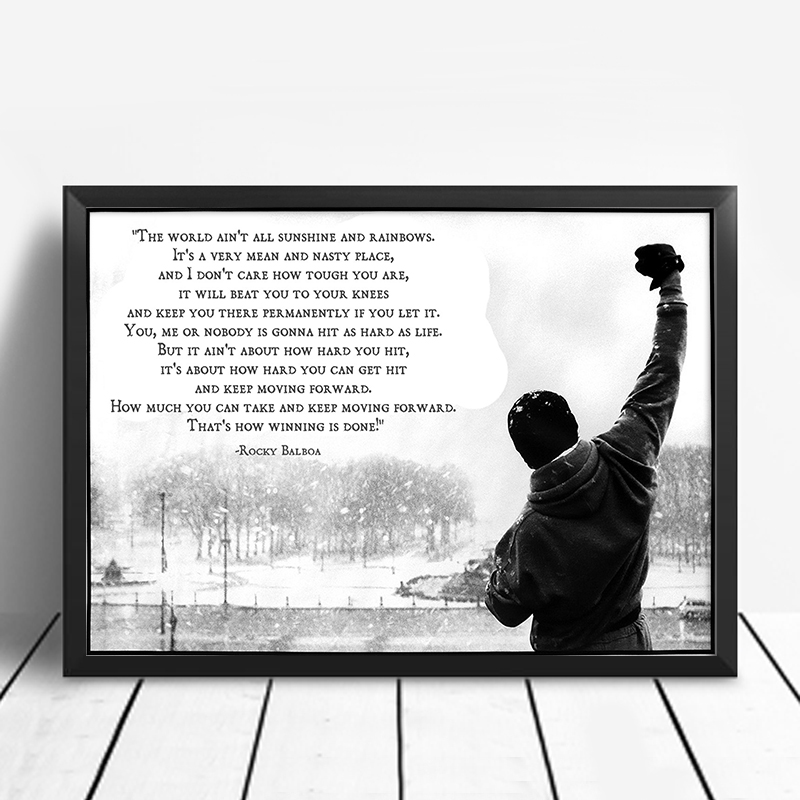 Pictures And Inspiration: Rocky Balboa Motivational Quotes Posters Wall Art Posters