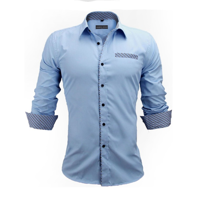 HTB1.rGnKVXXXXXfXFXXq6xXFXXX2 - New Arrivals Slim Fit Male Shirt Solid Long Sleeve British Style Cotton Men's Shirt N332