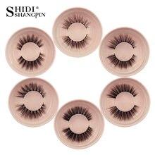 SHIDISHANGPIN 1 box mink eyelashes natural long 3d mink lashes 1 pair 3d false lashes hand made makeup 3d false eyelashes