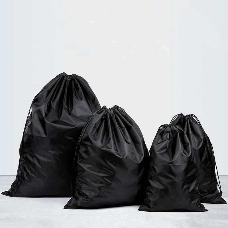Waterproof Drawstring Pouch Nylon Folding Sport Home Travel Cord Bag Storage Use