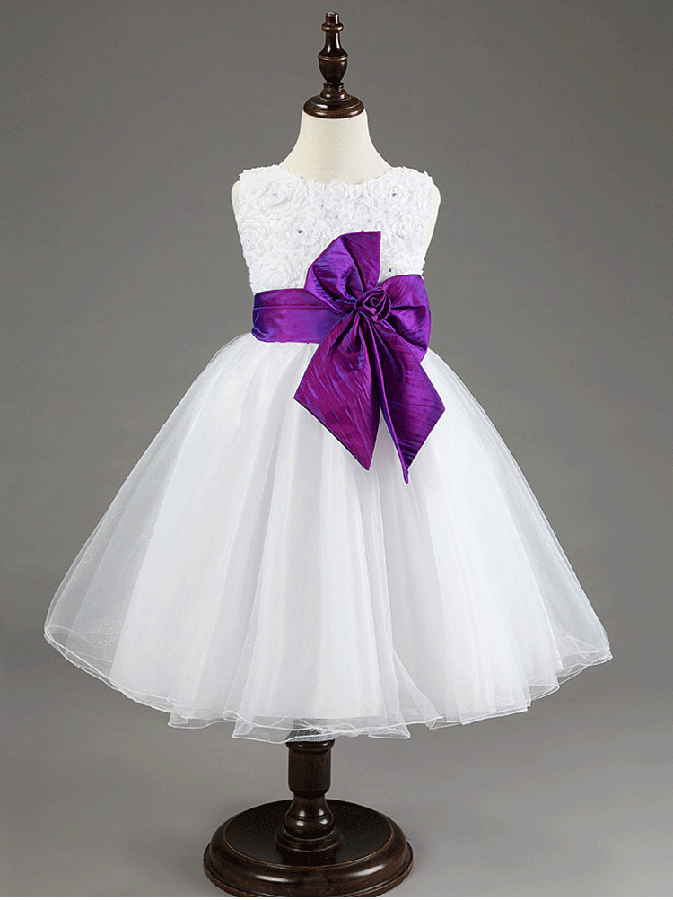2016 new flower girl dresses with bow sashes purple pageant aeproduct mightylinksfo