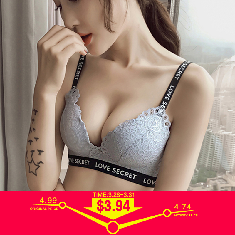 e39e8a48e Sexy Soft Lace Bras For Women Push Up Bra Lingerie Thicken 3 4 Cup Bralette