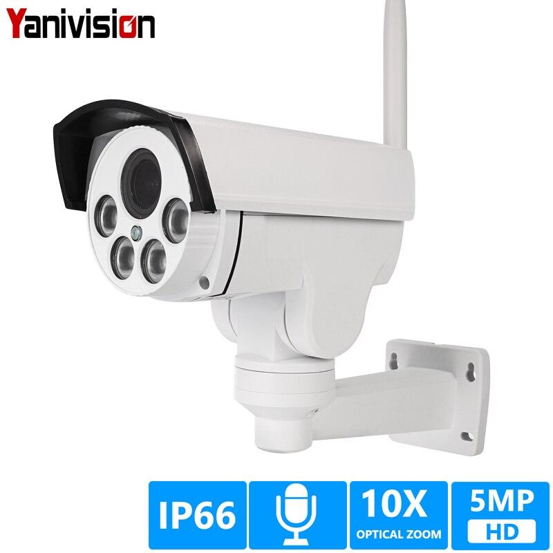 5MP 2MP 5X 10X оптическая зум Wifi IP камера PTZ Bullet наружная 1080P беспроводная ИК Ночная Onvif аудио CCTV IP камера ONVIF 64 Гб карта|Камеры видеонаблюдения|   | АлиЭкспресс
