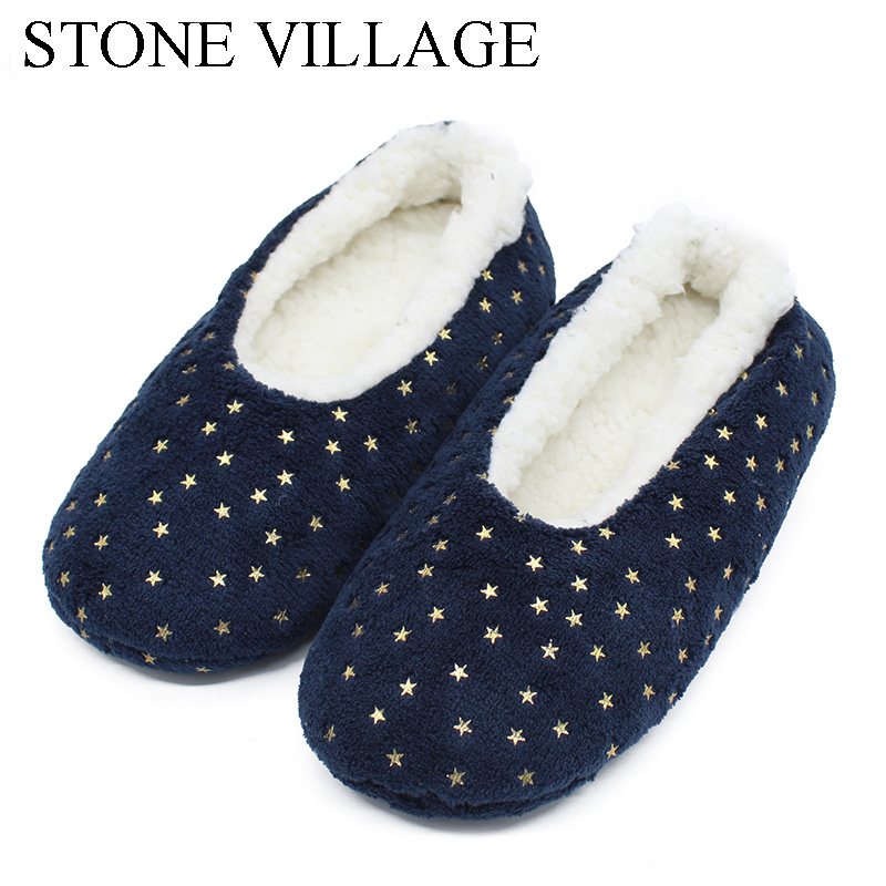 STONE VILLAGE Plush Size 35-41 Bling Winter Warm Cotton Plush Slippers Soft Home Slippers  Indoor Christmas Slippers Shoes STONE VILLAGE Plush Size 35-41 Bling Winter Warm Cotton Plush Slippers Soft Home Slippers  Indoor Christmas Slippers Shoes