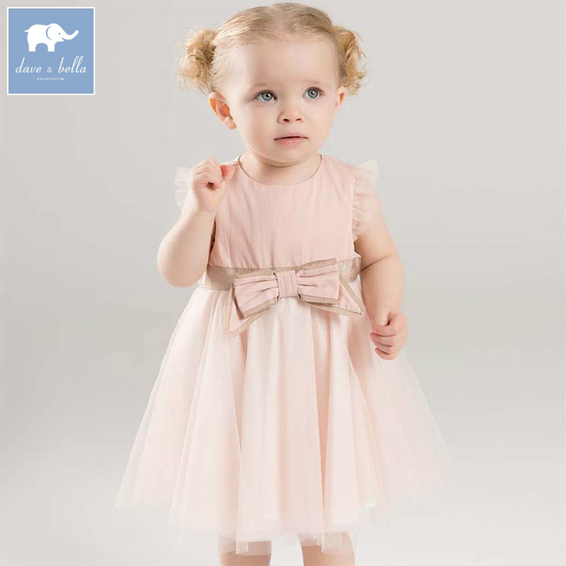Dave bella Fashion girls dress infant toddler party wedding clothing baby sleeveless clothes children summer dresses DB7041 db7266 dave bella baby dress girls infant toddler clothing children birthday party clothes kids summer lolita dress