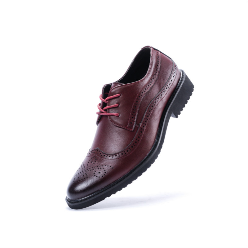 2018 Men Soft Comfort Leather Shoes Men s Formal Business Shoes High Quality Pointed Dress Shoes