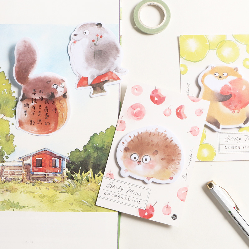 1PC New Forest Garden Association Series Memo Pad Paper Post Sticky Notes Notepad Stationery Papeleria Office School Supplies