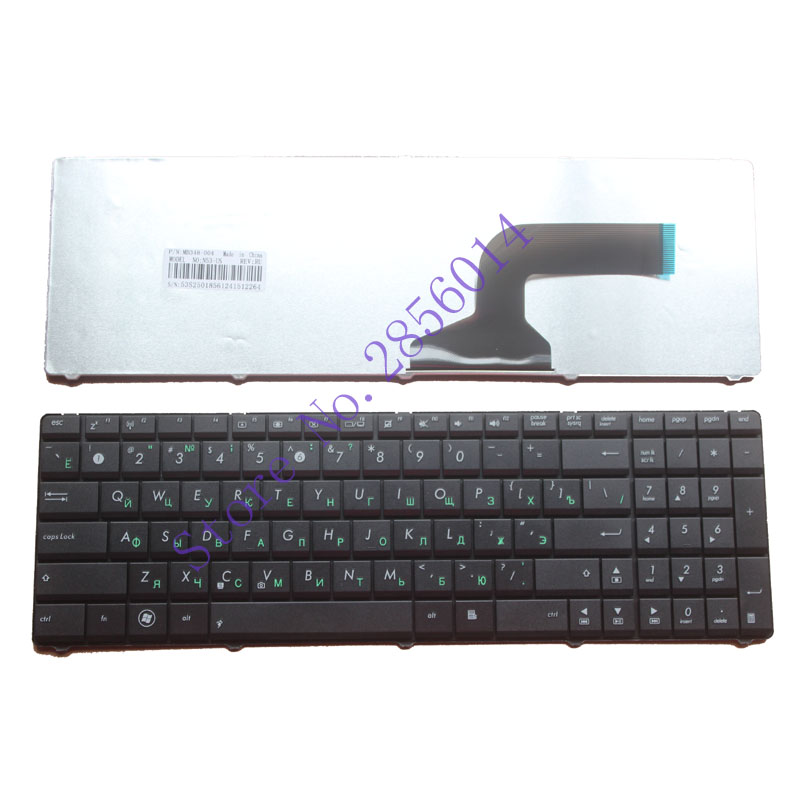 Russische Tastatur FÜR ASUS N53 k53s K52 X61 N61 G60 G51 G53 UL50 P53 Schwarz RU laptop-tastatur