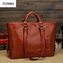 Brand Women Shoulder Bag Fashion Woman Handbags Oil Wax Leather Large Capacity Tote Bag 2020 Luxury Handbags Women Bags Designer