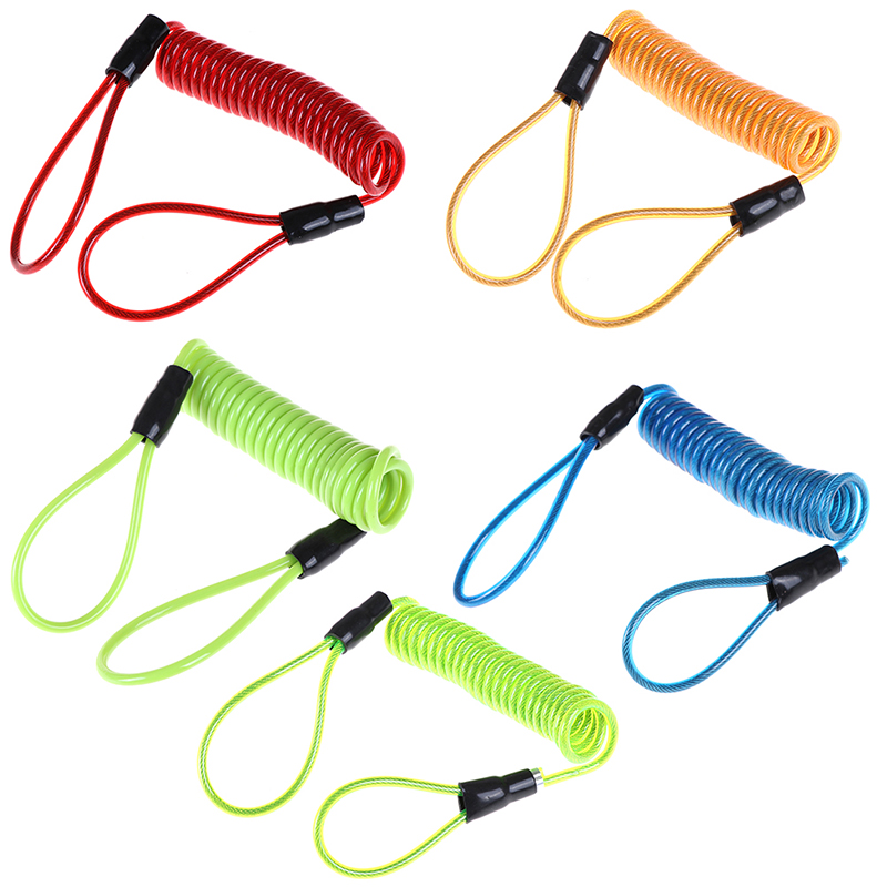 1.2m Cable Bicycle Lock Rope Helmet Wire Anti-Theft Rope Motorcycle Scooter Disc Lock Security Reminder Bike Motorbike Hand Tool