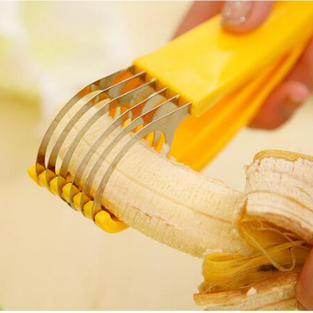 Stainless Steel banana cutter fruit Vegetable sausage Slicer Salad Sundaes tools cooking tools Kitchen Accessories gadgets28