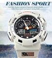 Top Luxury Brand Epozz White Color Fashion Digital Japan Synchronous Movement Men Watches Relojes de Hombre Waterproof 100 M