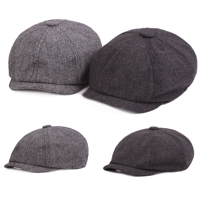 d7ced0c757b 2018 New Style Winter Men s Hat Western Style Fashion Cotton Newsboy Caps  Simple Casual Tongue Cap Male Bone Trucker Dad s Hat-in Newsboy Caps from  Apparel ...