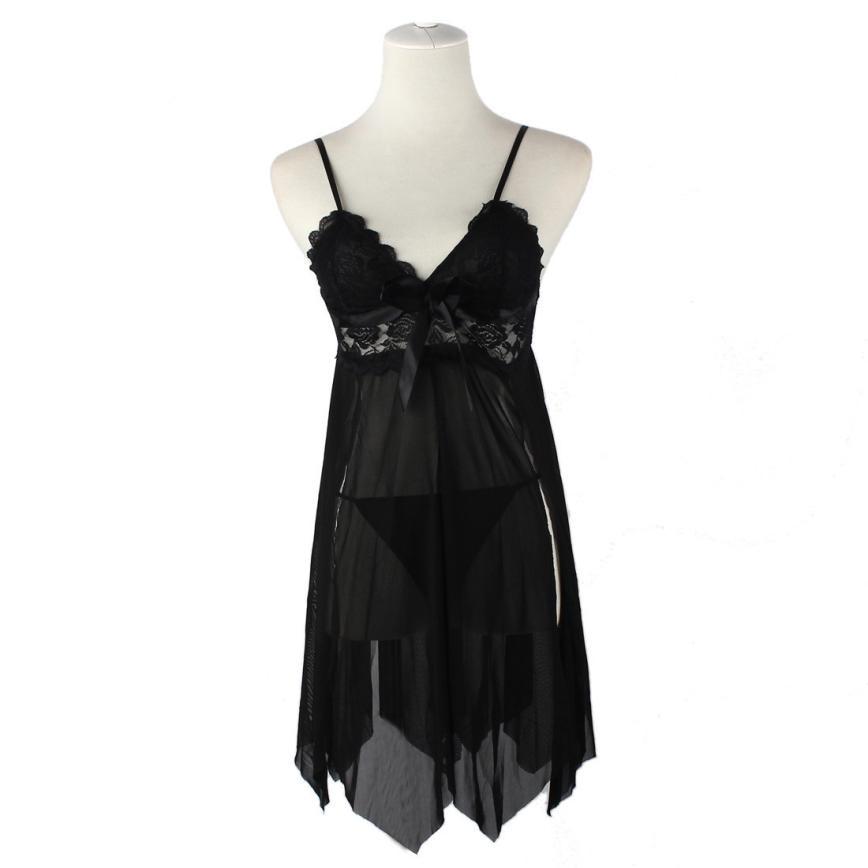 Sleeper #5001 Sexy Lingerie Women Underwear Lace Dress G-string Nightwear Gauze Regular Embroidery 2018 Free Shipping