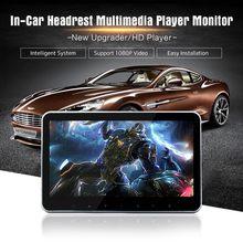 Super magro 10 Polegada carro encosto de cabeça multimídia mp4 mp5 vídeo player hd monitor de tela com usb sd hdmi av slot e transmissor fm