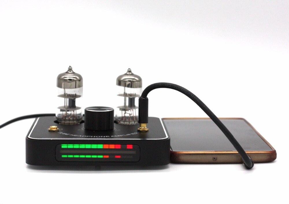 New 6C11 tube valve headphone amplifier amp tereo HiFi Amp with LED VU meter lm1875t hifi 6j1 valve drive power amplifier board kits headphone amp kits 20w diy kits