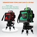 Лазерный уровень с аккумулятором  самонивелирующийся 3d-уровень красного  зеленого  синего цветов  12 линий  360 градусов