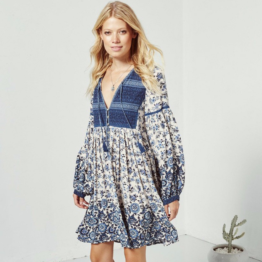 Pirate Curiosity Beautiful Elle Boho <font><b>Dress</b></font> Vintage-inspired <font><b>indigo</b></font> Mini <font><b>Dress</b></font> Casual-cool Bohemian Beach <font><b>Dress</b></font> Women Vestido2018