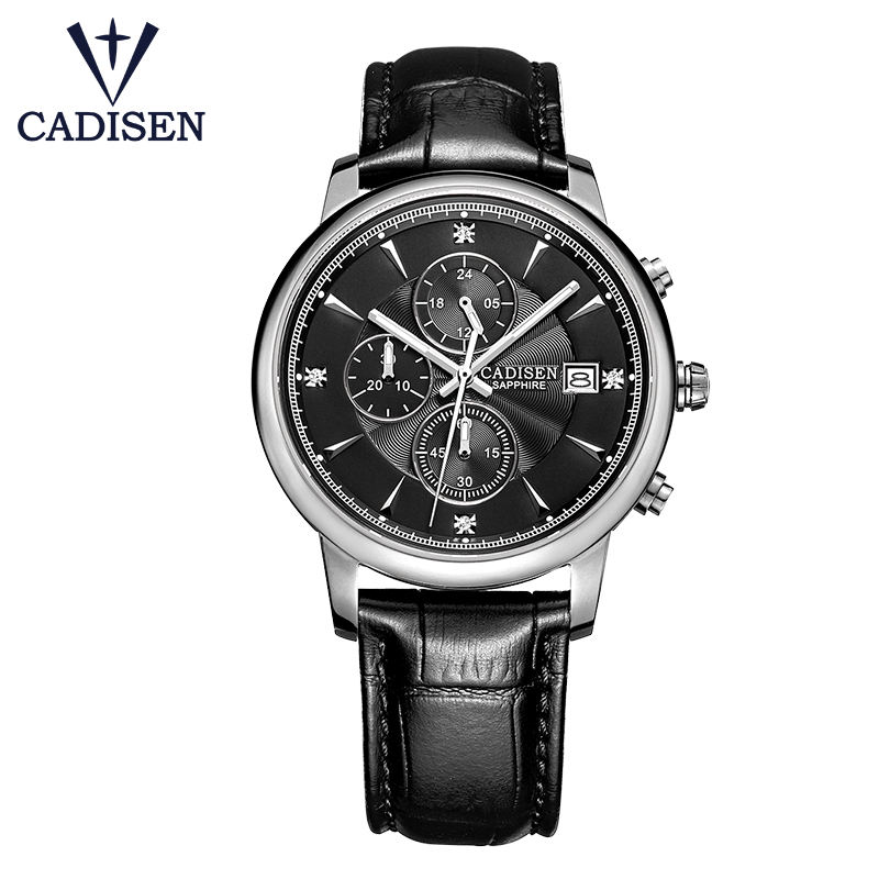 C7058 CADISEN vogue brand quartz watches for men simulated sports watch for men military watches for business casual all purpos in Quartz Watches from Watches