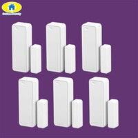 Accesorios de Seguridad de oro 6 unids Inalámbrico sensor de Puerta Ventana Del Sensor de 433 MHz de Dos vías para G90B WIFI GSM inicio de alarma de seguridad