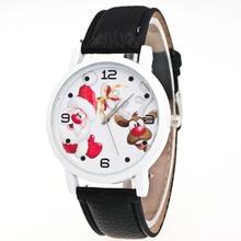 Mulheres relógio Relogio feminino 2016 nova marca casual relógios de couro relógio de quartzo hot presente de natal de papai noel relógio relojes