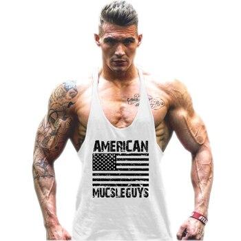 Muscleguys Brand mens sleeveless vest Summer Cotton Slim Men Tank Tops gyms Clothing Bodybuilding shirt Fitness