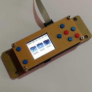 Image 2 - Placa controladora fuera de línea CNC GRBL, placa de Control de máquina de grabado, 3 ejes, USB, 1,8 pulgadas, Lcd