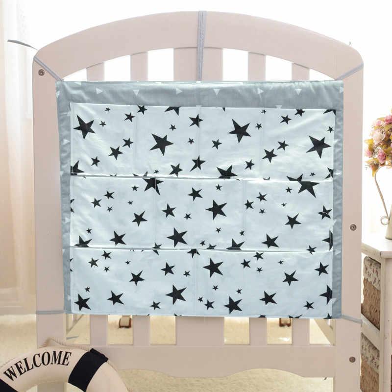 Детские постельные принадлежности набор s Cot кровать висячая сумка для хранения, органайзер для кроватки игрушка карман для пеленок для детская кроватка набор кровать бампер 49*61 см