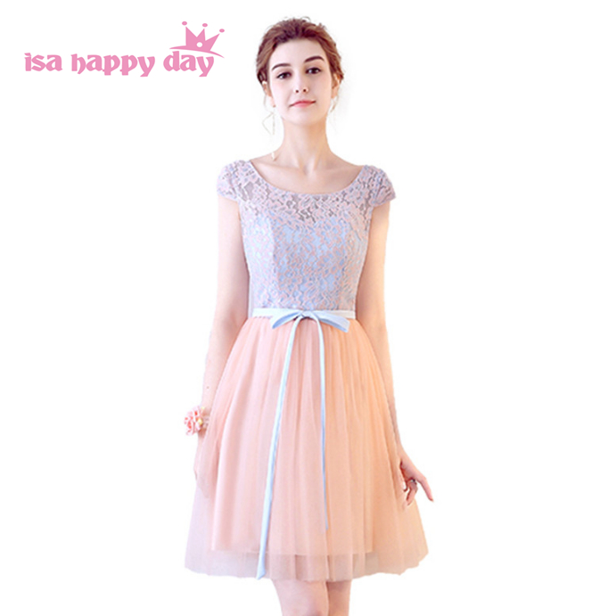 2019 new fashion beautiful lace tulle bridemaids princess   bridesmaids     dresses   ball party   dress   for wedding guests H4126