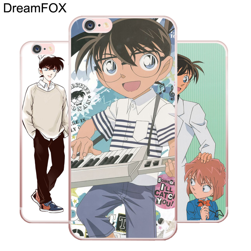 L144 Detective Conan Soft TPU Silicone  Case Cover For Apple iPhone X 8 7 6 6S Plus 5 5S SE 5C 4 4S