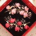 Невеста аксессуары красная роза жениться ручной работы Невесты аксессуары для волос аксессуары для волос