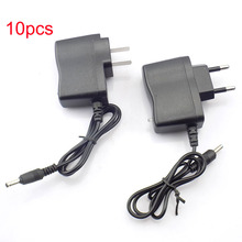 10pcs 3.5mm LED Flashlight AC home Wall Charger Power adapte