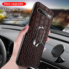 LANGSIDI Full Grain Leather case For Samsung Galaxy S10 E Plus phone Cases For Samsung S8/S8 Plus S7/S7 Edge Cover 2019 New