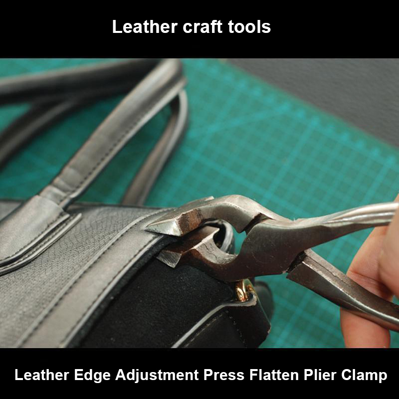 New Leathercraft Leather Edge Adjustment Press Flatten Plier Clamp For Leather Bag Cloth Belt Leather Craft Tools