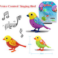 2017 Sound Voice Control Activate Chirping Singing Bird Funny Kids Child Gift Toy Dropship Y113