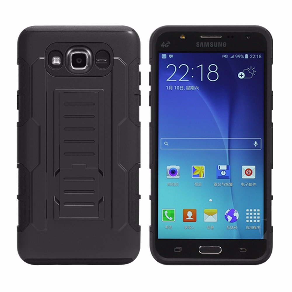 quality design d74a9 75fa5 US $5.49 |Outdoor Defender Phone Case For Samsung Galaxy J7 2016 / J710  Anti Cracking Shock Proof Holster Belt Clip Holster Case Cover on ...