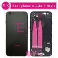 Для iphone 6 6g 4.7 ''Like 7 Стиль 7 мини 6 Плюс 5.5 ''как 7 Плюс 5.5 ''Style Полный Крышку Корпуса В Сборе со Шлейфом