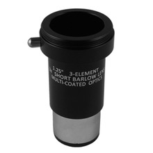 Astromania 1.25″ 3x Short Focus Barlow Lens for Telescope Eyepiece