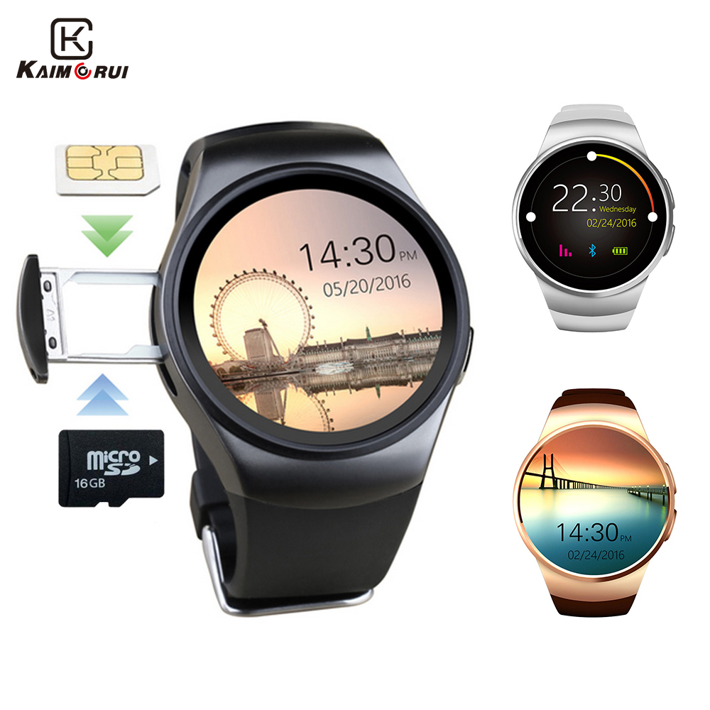 Kaimorui KW18 Bluetooth Smart Watch Podrška SIM kartica Izvorni Men Business SmartWatch s otkucaja srca za Android IOS telefon