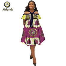2019 AFRIPRIADE African Dresses for Womens Explosion Models Spring Positioning Printing Ethnic skirt with Bow tie S1925027