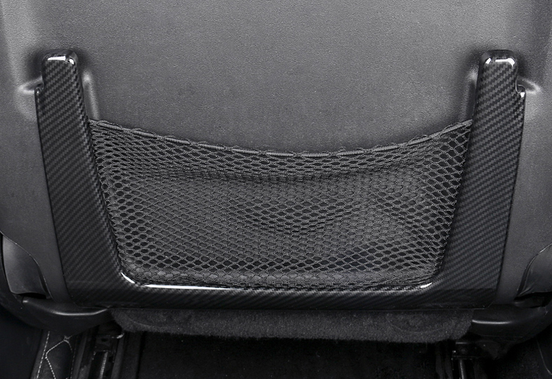For Jeep Grand Cherokee 2011 2018 ABS Plastic Interior Front Seat Back Net Cover Trim 2pcs Car Styling