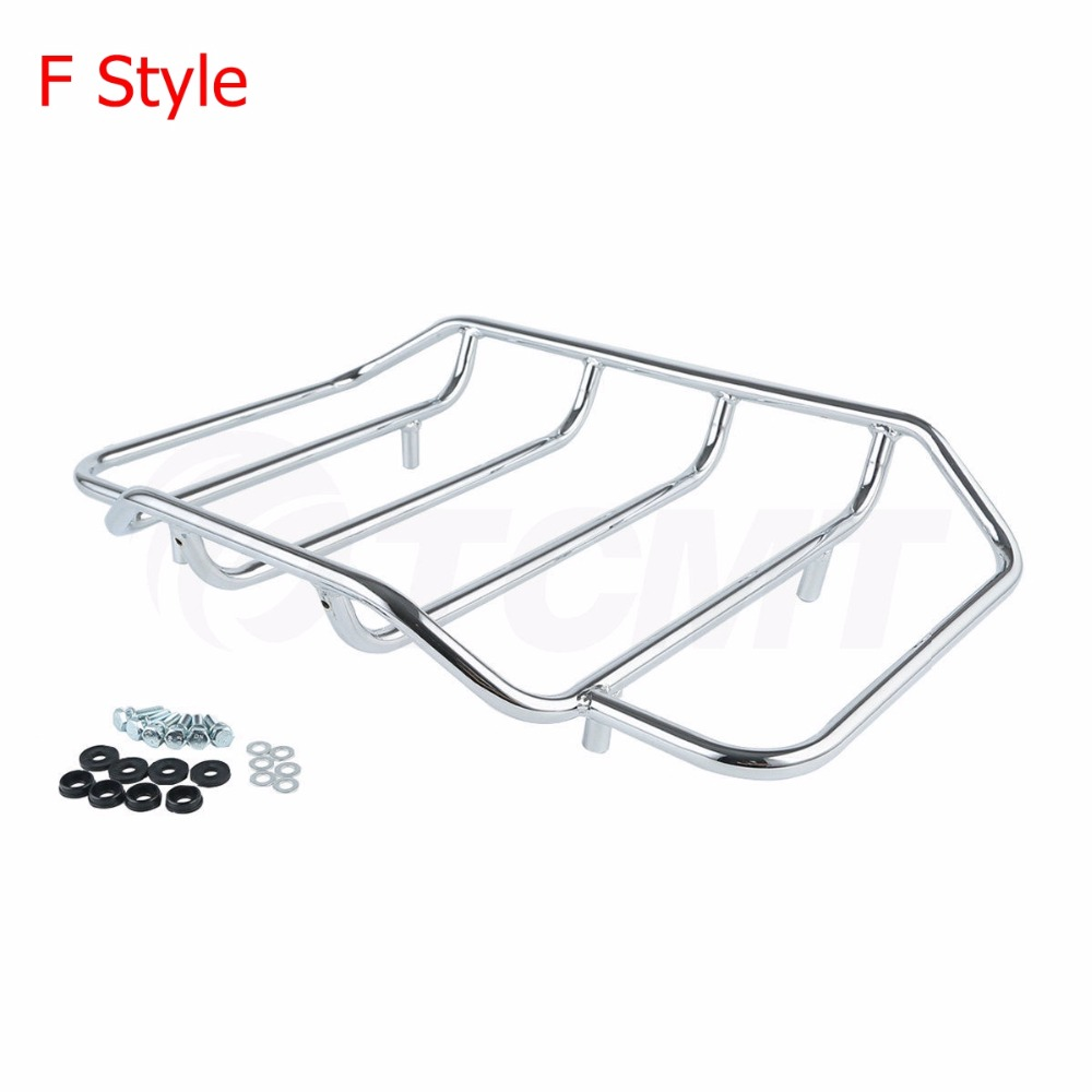"""Image 5 - Motorcycle Tour Pak Pack Trunk 5""""Stretched Extended Saddle Bags For Harley Touring Road King Street Glide Road CVO 2014 2019 18"""